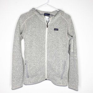 Patagonia Womens Full Zip Grey Fleece Hoodie Small